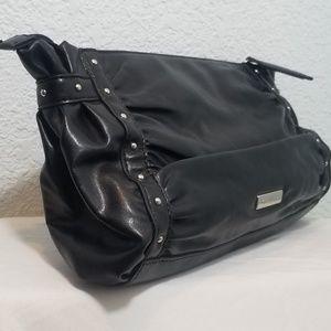 White House Black Market Leather Clutch/Black